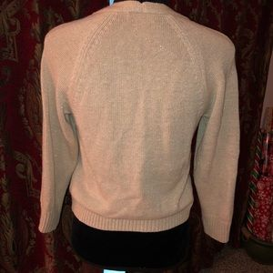 The Limited Sweaters - The Limited beige metallic shimmer cardigan EUC